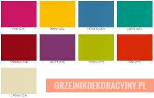 Kolory specjalne grzejników Instal Projekt paleta fashion colours