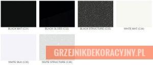 Kolory specjalne grzejników Instal Projekt paleta black and white
