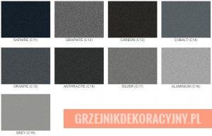 Kolory specjalne grzejników Instal Projekt paleta top colours