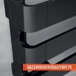 Grzejnik Irsap Step H - wersja pozioma - chromowany - czarny