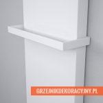 Grzejnik Terma Case z relingiem w kolorze białym