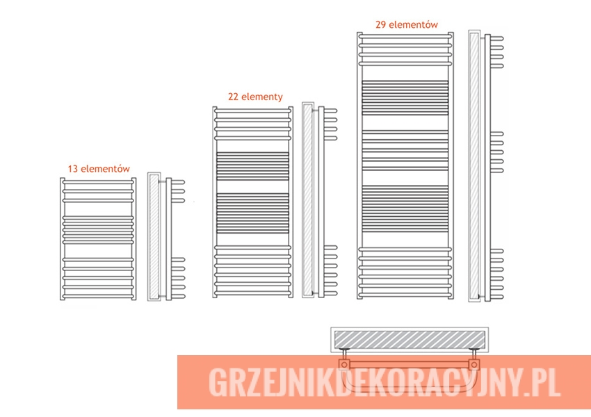 Grzejniknierdzewny Olsztyn   HeatPoint - rysunek techniczny