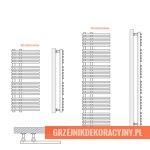 Grzejnik Katowice - HeatPoint - rysunek techniczny